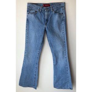 Levi's Jeans - LEVI'S VINTAGE 519 LOW STRETCH FLARE Mom Jeans 9